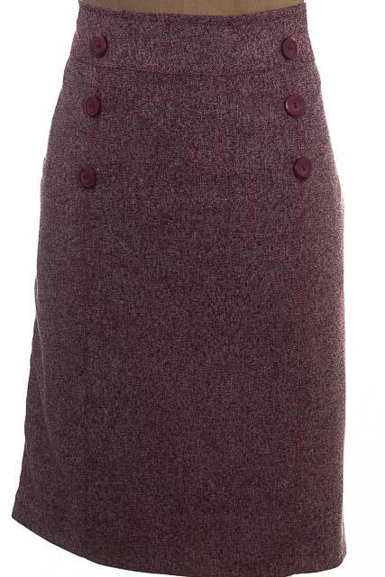 Falda Elegante color Vinotinto - EASY