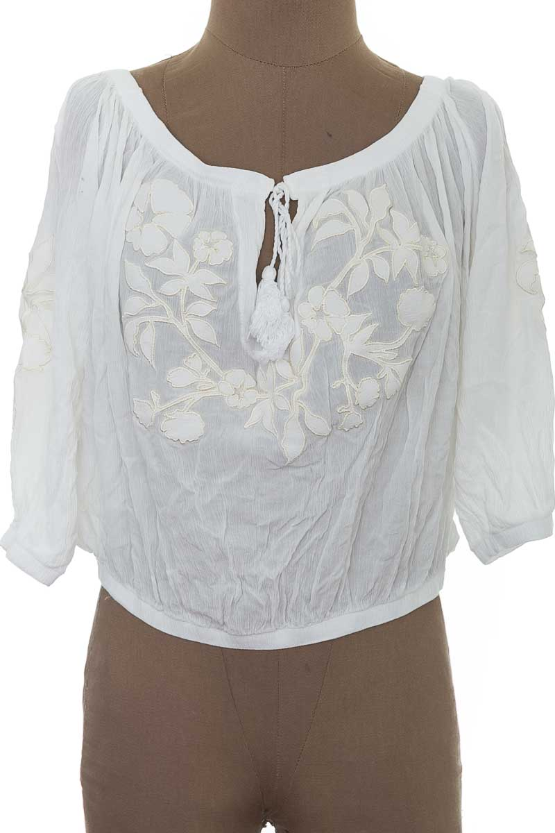 Blusa Casual color Blanco - Agua Bendita