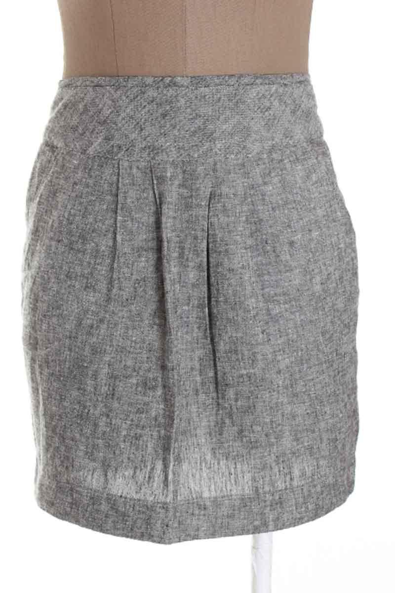 Falda Casual color Gris - Blanco
