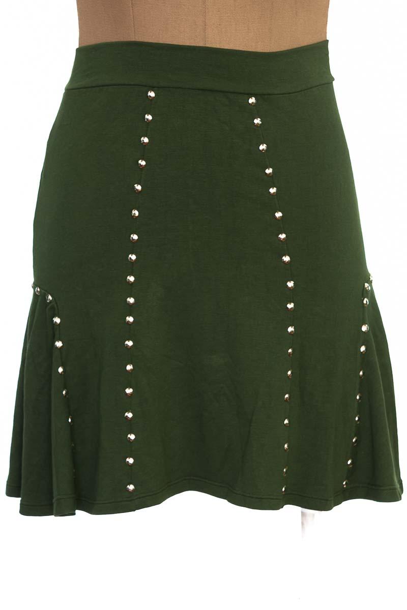 Falda Casual color Verde - J&B