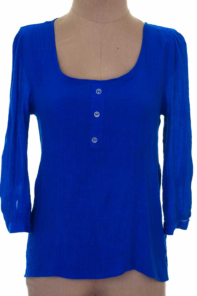 Blusa Casual color Azul - Closeando