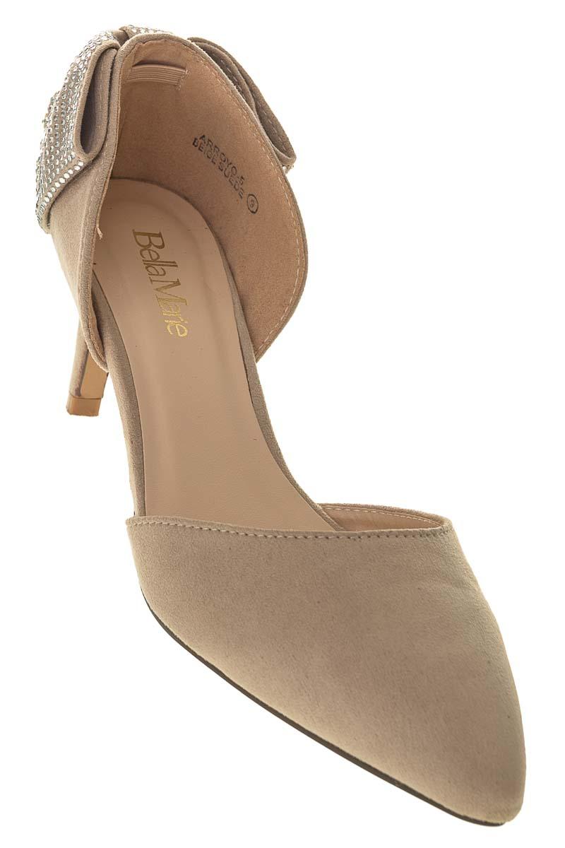 Zapatos Tacón color Beige - Bella Marie