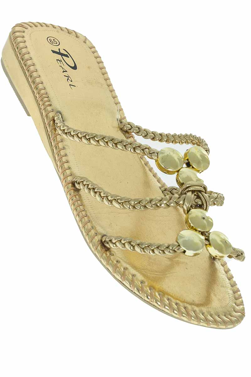 Zapatos Sandalia color Dorado - Pearl