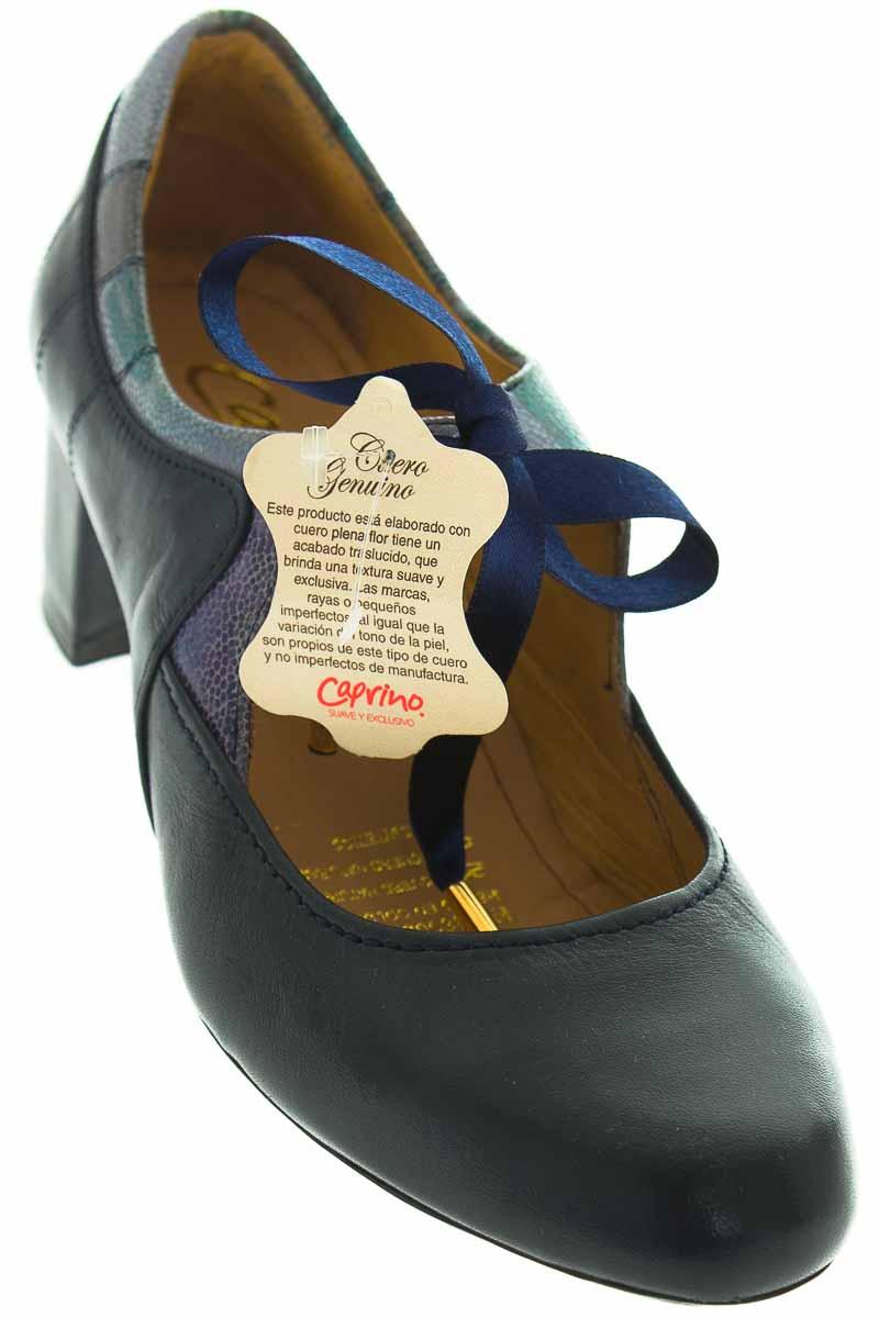 Zapatos Tacón color Azul - Caprino