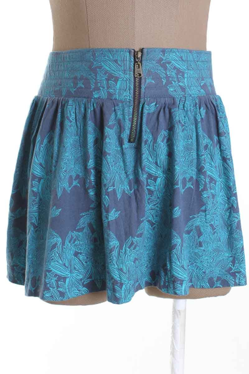 Falda Casual color Azul - Gef