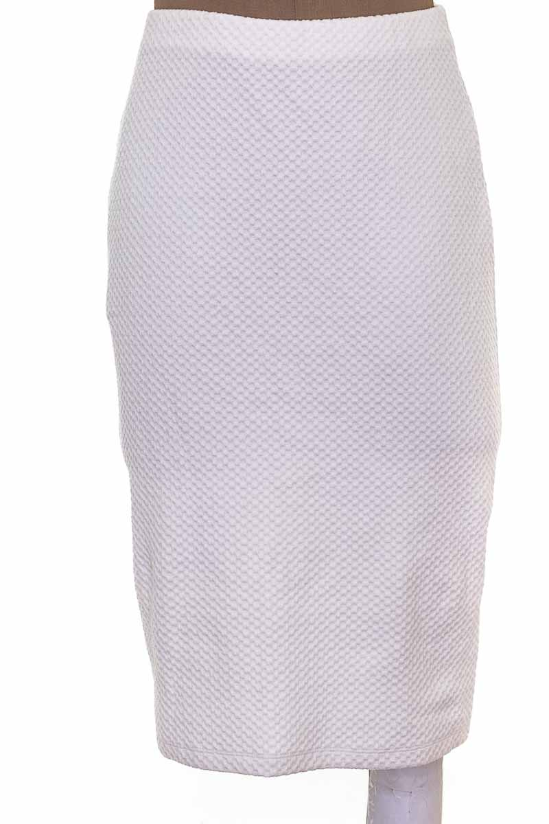 Falda Casual color Blanco - Seven Seven